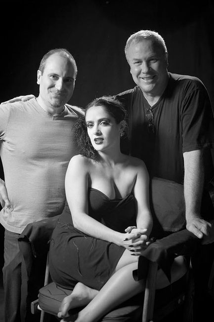 Pavel Antonov. Portraits of Artists I. Ali Hossaini, Robert Wilson and Salma Hyek on set in LA 2006